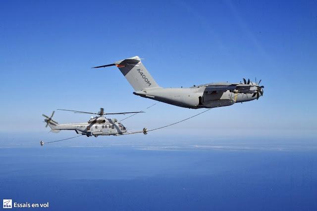 A400M test rifornimento volo elicotteri