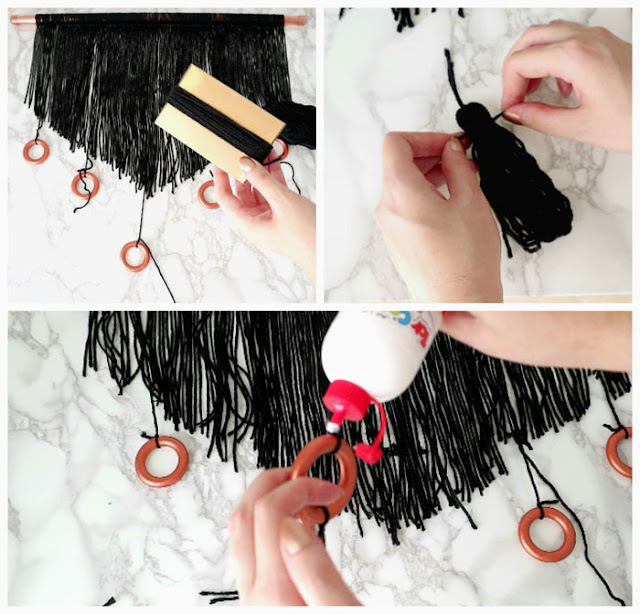 DIY Yarn Tassel Wall Hanging