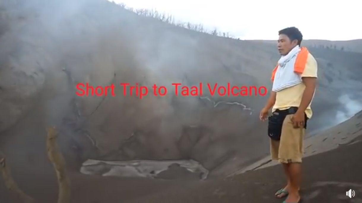 Resident treks to spot where Taal Volcano erupted