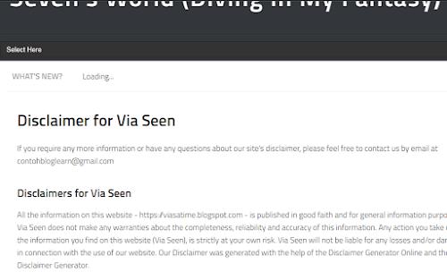 Cara Membuat Disclaimer Untuk Blogger Pemula