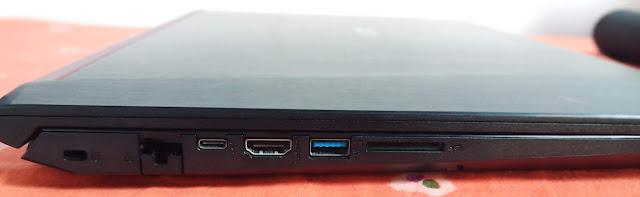Port konektivitas Acer Nitro 5 AN515-51