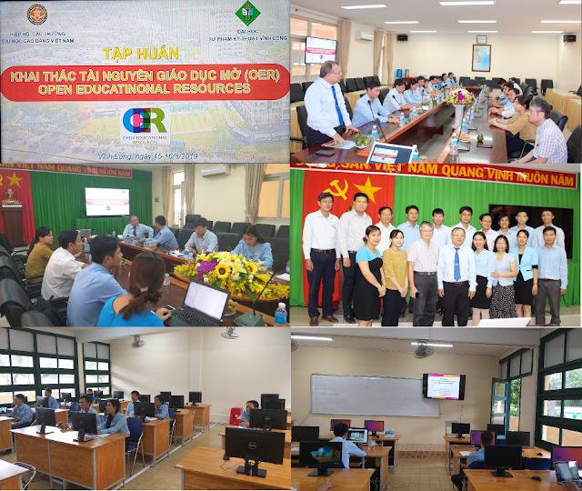 Khóa bồi dưỡng 'Thực hành khai thác tài nguyên giáo dục mở' ở trường Đại học Sư phạm Kỹ thuật Vĩnh Long