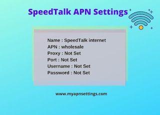 SpeedTalk APN Settings