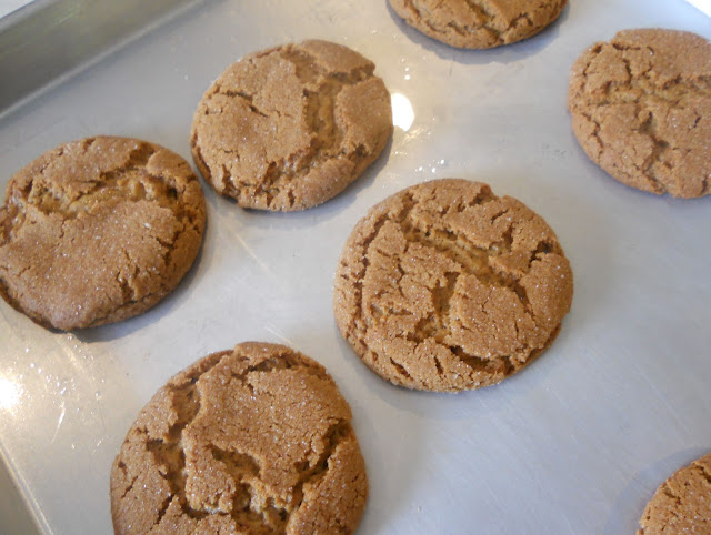 The baked molasses cookies