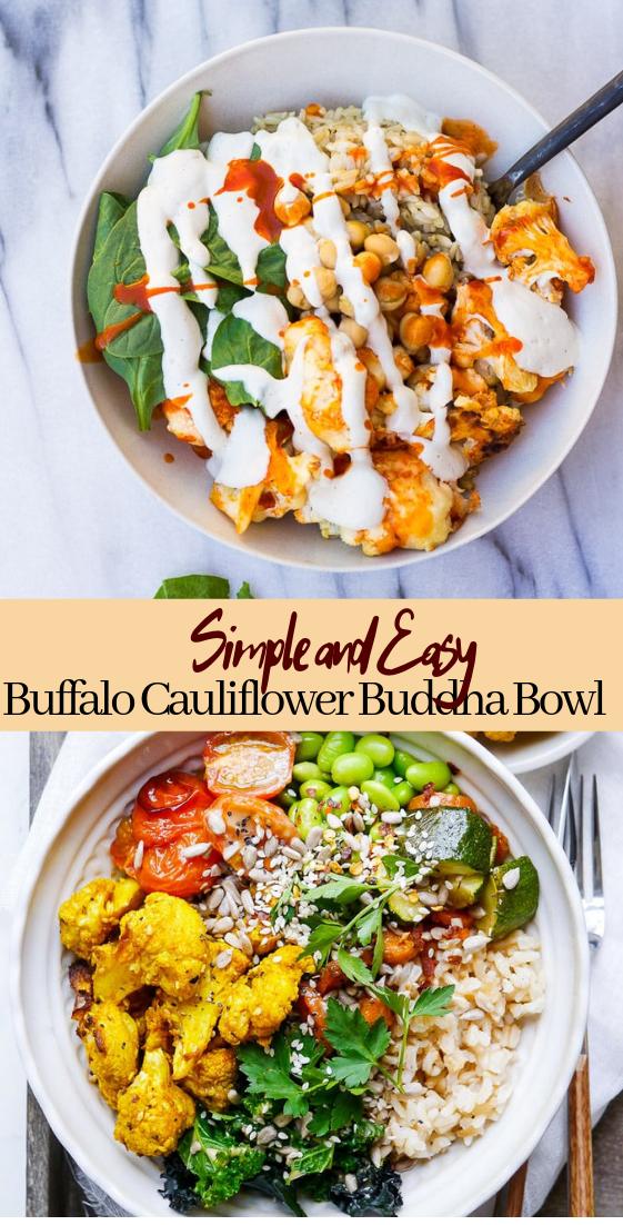 Buffalo Cauliflower Buddha Bowl #dinnerrecipe #food #amazingrecipe #easyrecipe