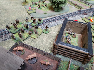 The barn comes under attack from Romanian infantry
