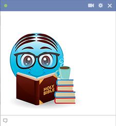 Emoji wtih holy bible