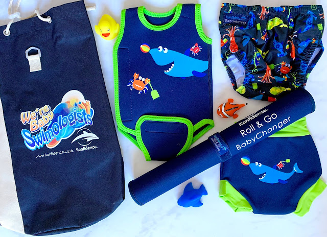 A flatlay showing Baby Swimming Kit from Konfidence