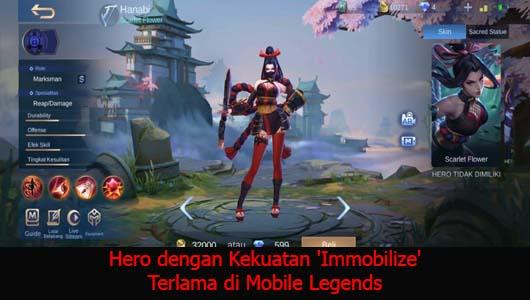 Hero dengan Kekuatan 'Immobilize' Terlama di Mobile Legends