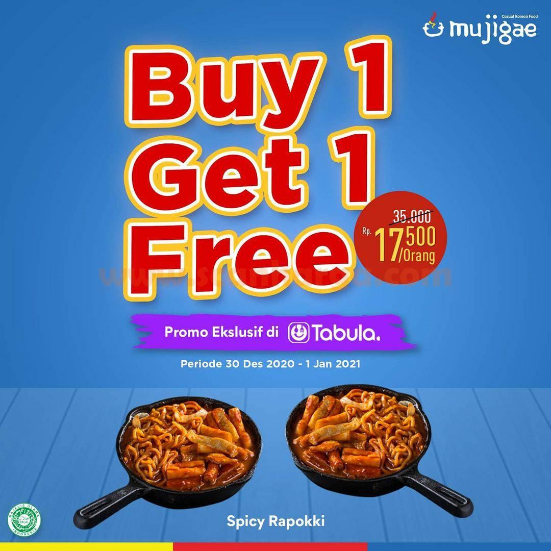 MUJIGAE Promo Buy 1 Get 1 Free Spicy Rapokki Hanya di Tabula!