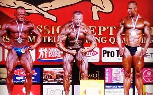 Δυο χρυσά μετάλλια για τον αστυνομικό Bodybuilder Τριαντάφυλλο Μαραγγό στο Ναύπλιο
