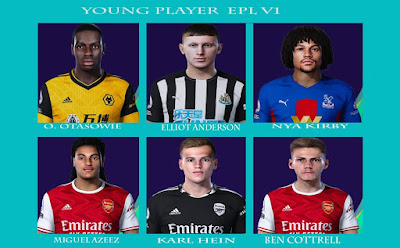 PES 2021 Facepack EPL Young Players by Rachmad ABs