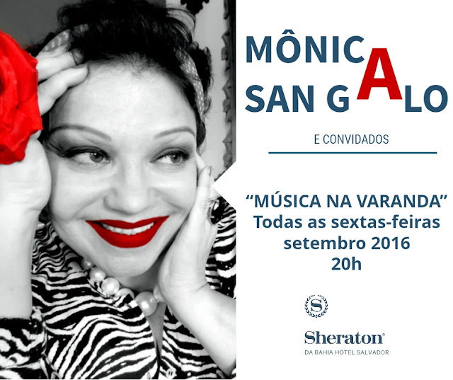 'Música na Varanda' recebe show de Mônica San Galo