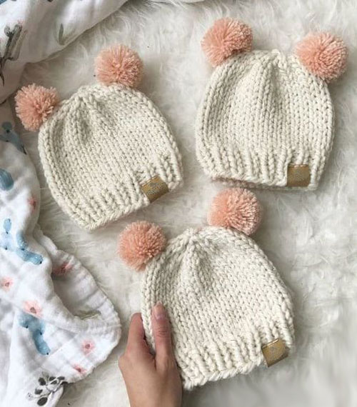 Basic Knitted Baby Hat - Free Pattern