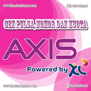 Cek Pulsa, Kuota, Nomor Axis by Konter Slamet