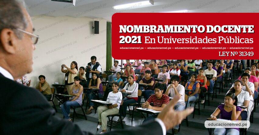 NOMBRAMIENTO DOCENTE 2021: