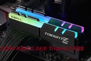 أفضل ذاكرة الوصول العشوائي DDR4 RAM G.Skill Trident Z RGB