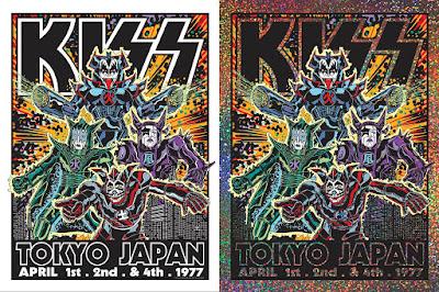 """KISS """"April 1, 2 & 4, 1977 in Tokyo, Japan"""" Screen Print by Frank Kozik x ECHO"""