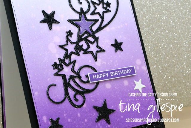 scissorspapercard, Stampin' Up!, CASEing The Catty, Label Me Bold, Sending You Thoughts, Stitched Stars Dies, Rectangle Stitched Dies, Painted Labels Dies, Sponge Brayer