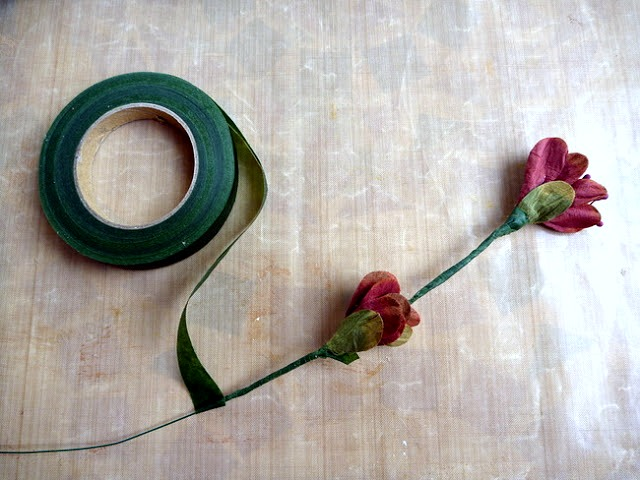 Finish Floral Branch with More Floral Tape by Dana Tatar