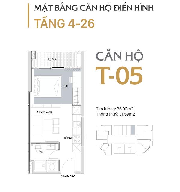 Thiết kế chi tiết căn hộ E1-05 dự án D'el Dorado phú thượng