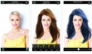 9 Aplikasi Merubah Warna Rambut Terkeren Untuk Android