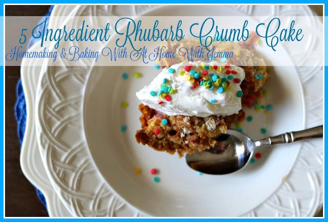 Homemaking, Homemaker, Homecooking, Baking, Recipe, Rhubarb, Cake
