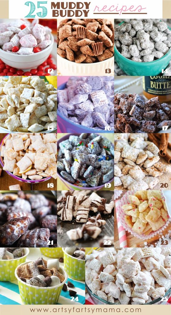 One of the first recipes I can remember making as a child was Muddy Buddies (or also known as Puppy Chow). If you've never tried it (and you really should), it's Chex cereal covered with the perfect mix of creamy peanut butter and melted chocolate, and finished with a nice coating of powdered sugar. Seriously, so good!