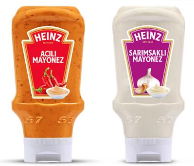 Heinz Sarımsaklı Mayonez ve Heinz Acılı Mayonez