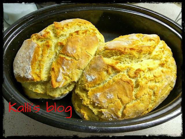 Ψωμί στην γάστρα Kalli's blog