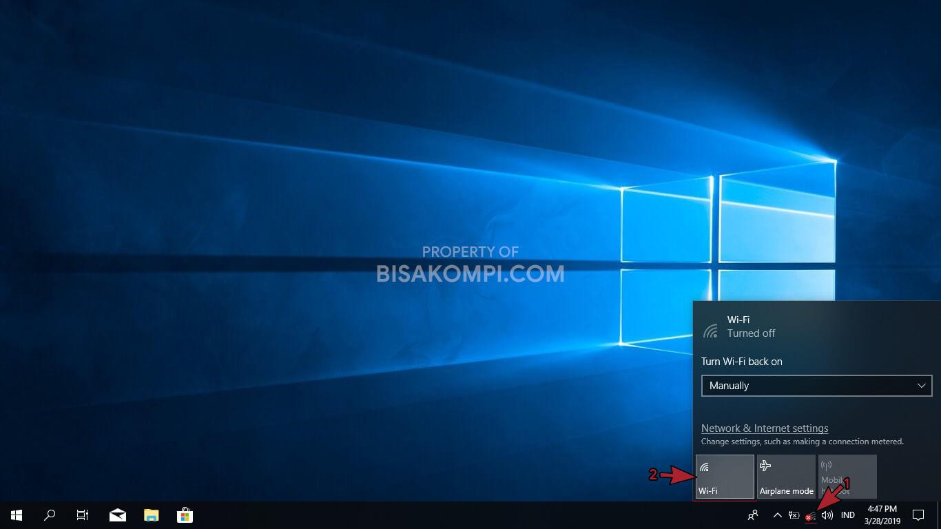 Cara Mengaktifkan WiFi di Windows 10