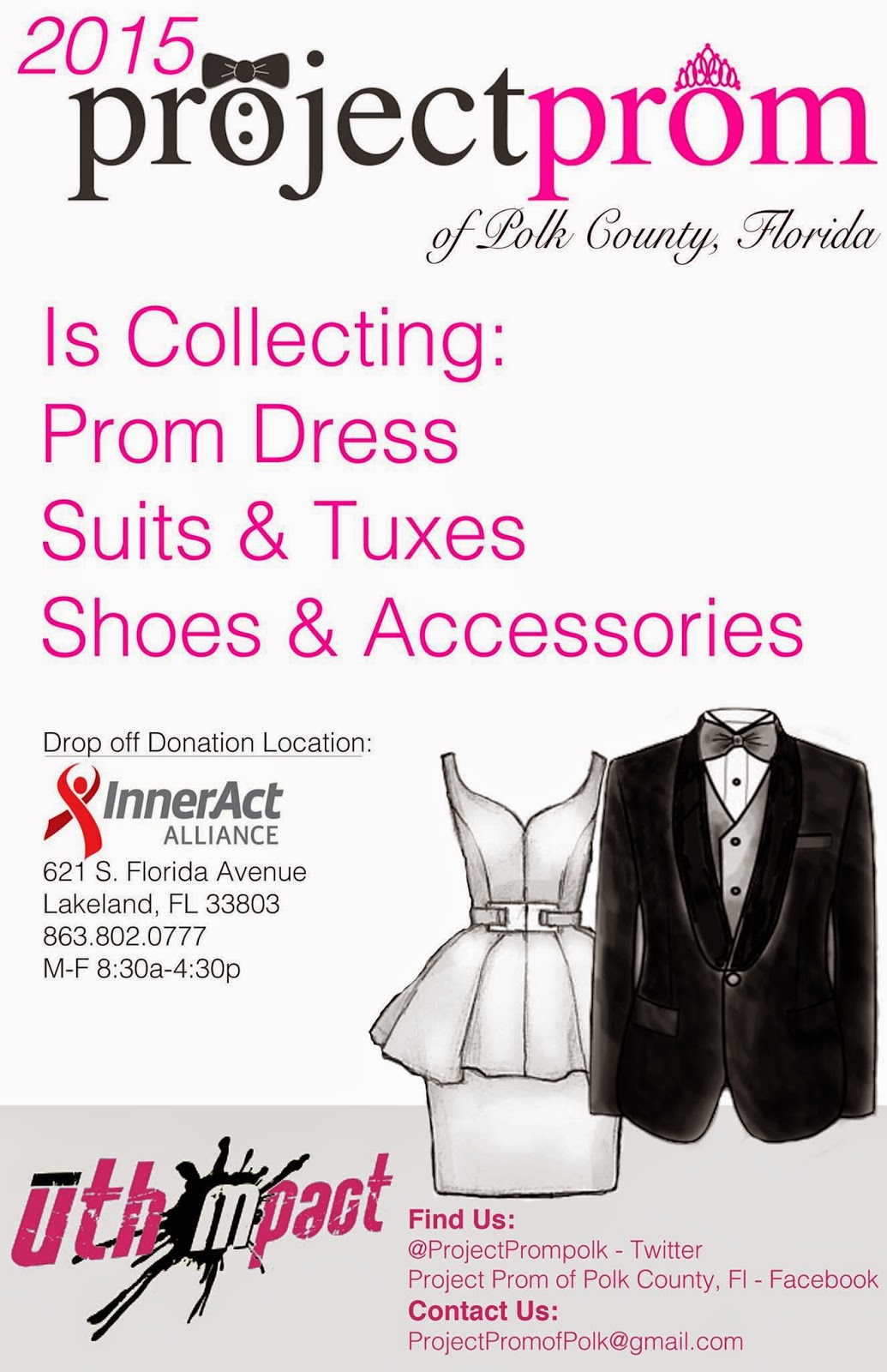 inneract alliance  donations of formal wear and