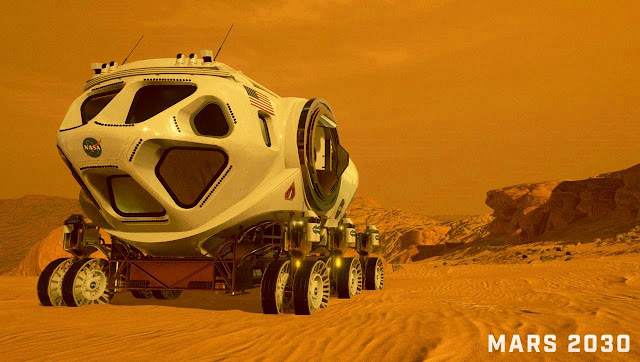 Mars 2030 VR image - rover
