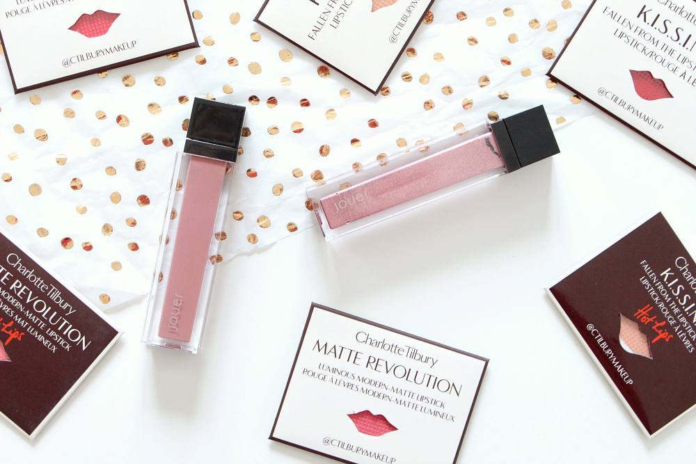 Jouer Lip Cremes Dulche de Leche and Citronade Rose
