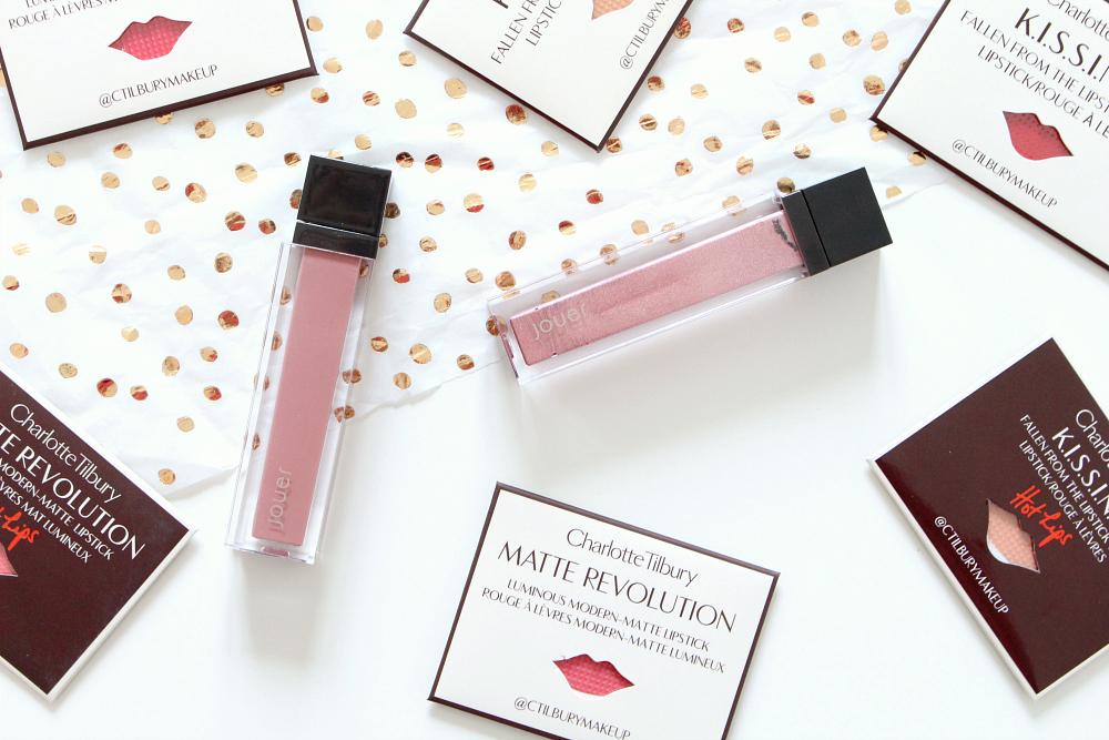 Jouer Liquid Lipsticks Dulche de Leche and Citronade Rose