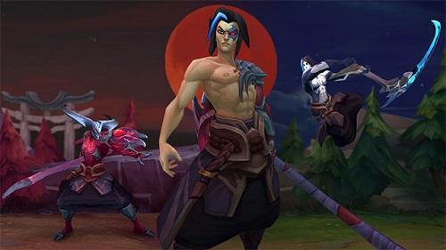 Kayn cùng hình ảnh bên ngoài hao hao Samurai nhật bản