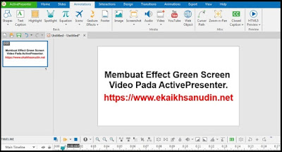 Membuat Effect Green Screen Video Pada ActivePresenter