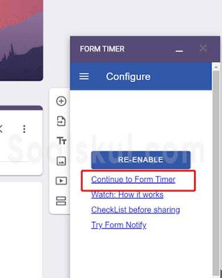 langkah 10 setting timer gform dengan form timer