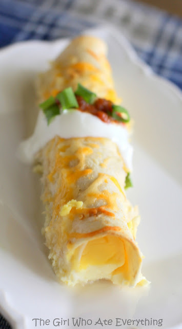 overnight ham and cheese breakfast enchiladas