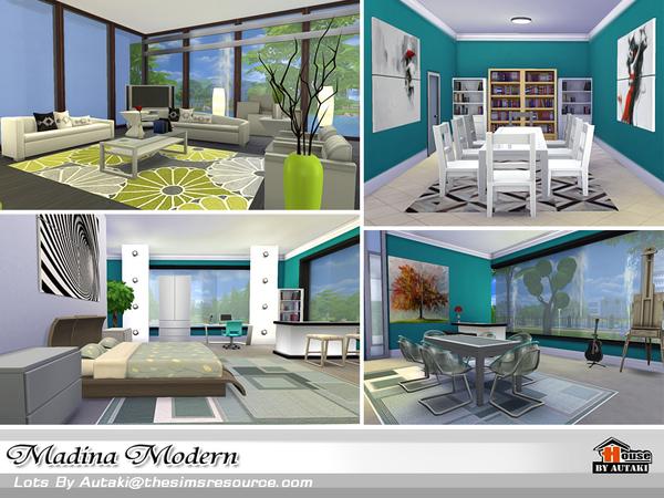 Casa moderna madina the sims 4 for Casa moderna kw