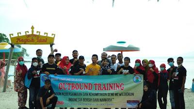 BNNK Lamsel Jaga Kekompakan dan Kebersamaan Dengan Outbound Training