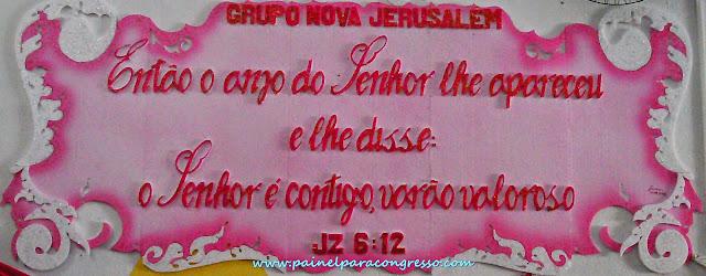 placa de isopor pintada   Festividade de varões   /   Juízes 6:12