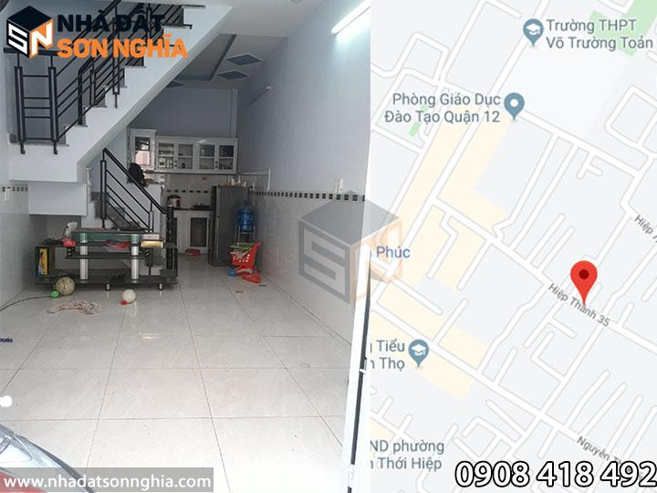 Nhà cho thuê HT35 phường Hiệp Thành Q12