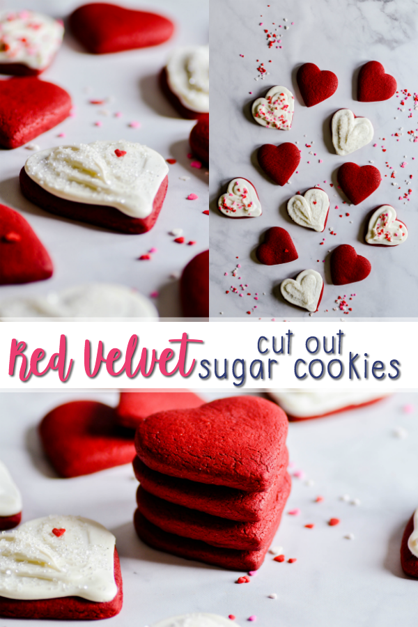 Red Velvet Cut Out Sugar Cookies