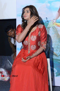 Actress Heba Patel Latest Stills in Red Dress at Mister Movie Trailer Launch Event  0019.jpg