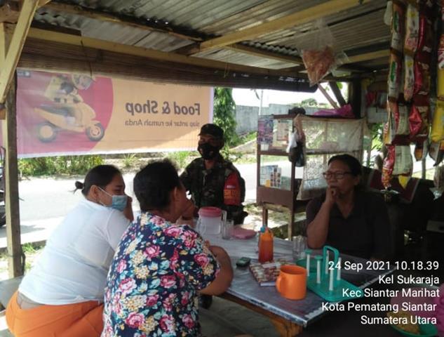 Personel Koramil 03/SS Jajaran Kodim 0207/Simalungun Laksanakan Gakplin Diwilayah Binaan