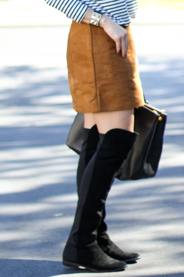 black over the knee boots style