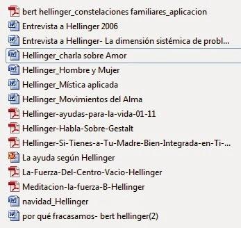 HELLINGER PDF CONSTELACIONES BERT FAMILIARES