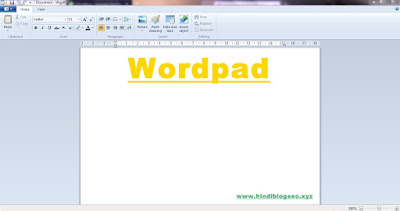 WordPad Type in English