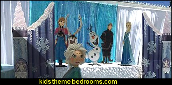Ice Castle Gate WINTER DECORATING PARTY PROPS frozen themed party decorations